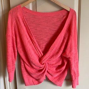 Twist Back Light Weight Sweater